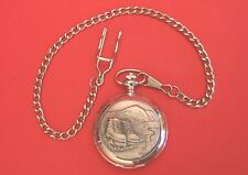 Walking Boots Design Pocket Watch Pewter Front Walking Ramblers Fathers Day Gift