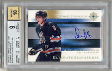 2005-06 Ultimate Collection Rookie Signatures Alex Ovechkin RC Auto BGS 9/10 OVI
