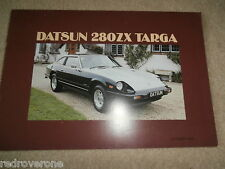 Nissan DATSUN 280 zx targa 1982 UK Market Sales Brochure. Collectors condition