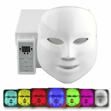 Photon Facial Mask Skin Rejuvenation 7 Color LED Light Therapy Anti Aging Device