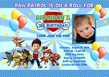PAW PATROL CUSTOM PRINTABLE BIRTHDAY PARTY INVITATION & FREE THANK U CARD