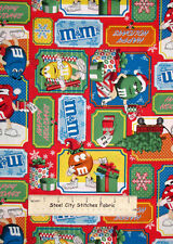 Christmas Cotton Fabric With M&M'S® Licensed Characters Holiday Tree Fabric YARD
