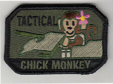 CHICK TACTICAL TRUNK MONKEY morale patch, OLIVE DRAB, full hook backing