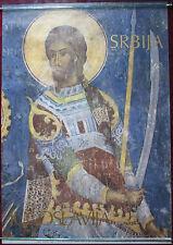 1982 Original Touristic Poster Yugoslavia Manasija Monastery Fresque Painture