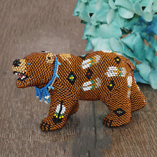 Native American Beadwork Zuni Beaded Bear Denise & Faron Gchachu