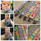 Dummy Chain Pacifier Clip Ribbon Vintage Owls Cars Boys Girls Toddler Baby New