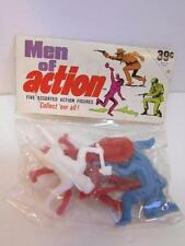 VINTAGE 1970'S MEN OF ACTION INDIAN FIGURES UNOPENED TOY PACKAGE
