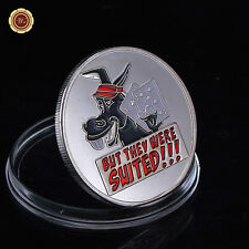 But They Were Suited - Donkey - Silver Poker Card Guard Protector Cover /w Case