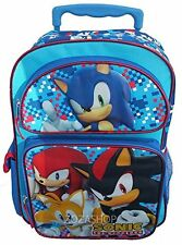 sonic the hedge hog 16 inches large rolling backpack new licensed product