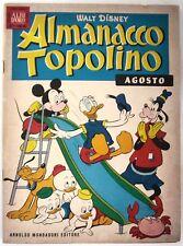 Almanacco Topolino n. 8 - Agosto 1961 - Edizioni  Mondadori