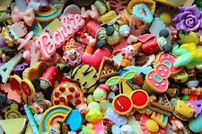 50pc Cabochon Handmade Random Mixed Assorted Lot Kawaii Decoden Flatback Resin