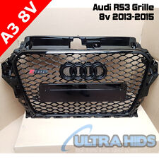 XB GRILLE FOR AUDI A3 S3 8V RS3 STEALTH ALL BLACK EDITION 2013 - 2015 FACELIFT