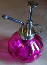 Wonderful Glass Plant Mister Sprayer Atomizer for Orchids, Ferns, Pink, New