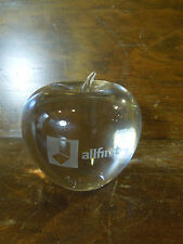 Glass Clear Allfirst Apple Paper Weight By Tiffany & Co
