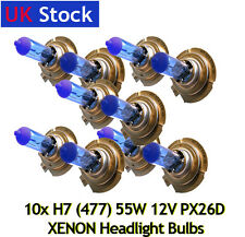 10x XENON 55W SUPER WHITE H7 PX26d 477/499 Headlight Bulbs 12V