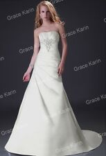 Women's Sexy Ivory A-Line Wedding Bride Dresses Formal Prom Evening Bridal Gowns