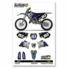 2006-2014 YAMAHA YZ 125-250 Cantrell Motocross Dirt Bike Graphics kit Decal