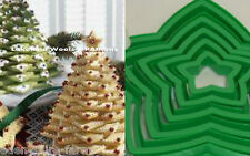 10 SIZES OF STARS - 3D CHRISTMAS TREE STAR COOKIE CUTTERS + ICING BAGS & NOZZLES