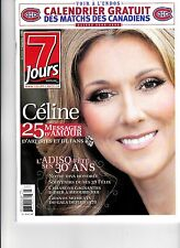 "CELINE DION  RARE 7 JOURS MAGAZINE NOVEMBER 2008 PHOTOS LAS VEGAS ""MINT"""