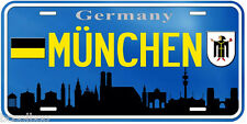 München Germany Aluminum Novelty Car Tag License Plate