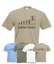 Evolución de andamios Camiseta divertida scaffolder T-shirt Tamaños SM A La Xxl