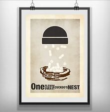 one flew over the cuckoos nest Minimalist Minimal Film Movie Poster Print