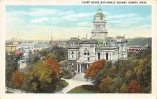Ohio Postcard SIDNEY Shelby County Court House Building Birdseye