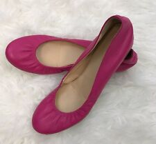 J CREW Soft Pink Lambskin Leather CECE Ballet Flat Size 8.5 Made in Italy EUC!