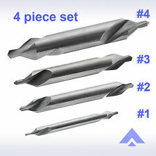 Altai Center Drill #1 #2 #3 #4 set HSS 60 degree countersink combined lathe mill