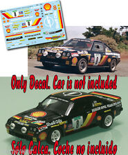 Decal 1:43 Austin Mc Hale - OPEL MANTA 400 - Rally El Corte Ingles 1986