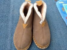 L.L. Bean men's suede shearling sheepskin moccasin slippers size 9, new, no box.