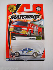 MATCHBOX POLICE CAR RESCUE ROOKIE MPF 2002  CHASE LOGO ON TRUNK
