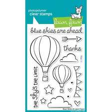 NEW LAWN FAWN BLUE SKIES CLEAR ACRYLIC STAMP SET