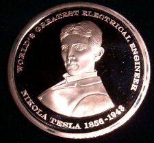First Strike Nikola Tesla .999 Copper Commemorative Medallion With COA & Holder