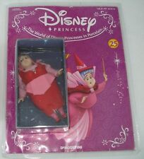 Sleeping Beauty Good Fairy Flora Doll Figurine w Magazine Disney Deagostini NRFB
