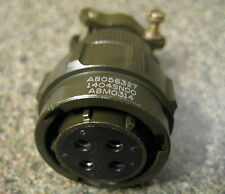 AB05632711404SN00 DATA CONNECTOR ELECTRICAL 4 PIN GOLD MILITARY Mil-C-26482