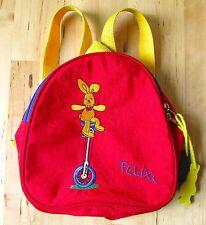 Felix Rabbit DIE SPIEGELBURG Children's Red Backpack Yellow Straps Germany