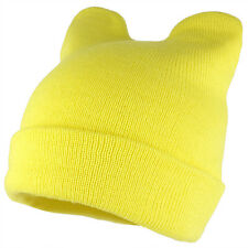 Pussyhat Women's Warm Cat Ear Folded Beanie Hat - 7 Colors - Free Ship