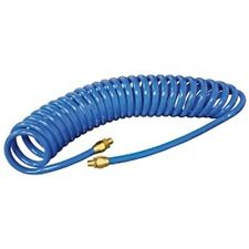 """3/8"""" x 12' Blue Reinforced Poly Urethane Re-Coil Air Hose MTN91009404 New!"""