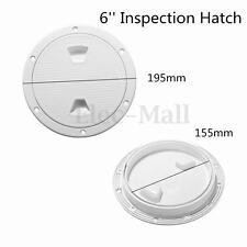 6'' ABS White Round Marine Screw Deck Plate Inspection Hatch Out Boat Access RV