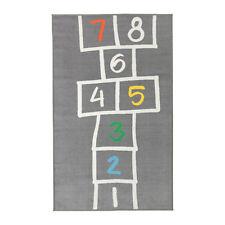 """NEW IKEA HEMMAHOS KIDS HOPSCOTCH Rug, gray, 63 """" X 39 3/8 """""""