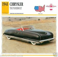 CHRYSLER THUNDERBOLT 1941 CAR VOITURE USA  ETATS-UNIS CARTE CARD FICHE