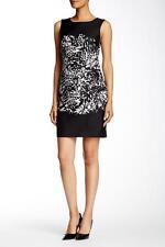 $468 NWT Diane Von Furstenberg Sofia Shift Dress Florest Shadows Black 2