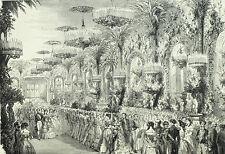 Bal Empereur Napoléon Impératrice 1853 - Gravure originale XIXème