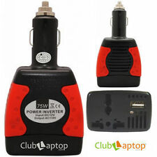Clublaptop Smart Power Inverter - Car Charger With USB Port 12V DC-220V AC Red