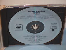 Memories By Barbra Streisand 1986 CD Columbia The Way We Were, Memory