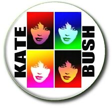 "KATE BUSH STUNNING POP ART STYLE BUTTON BADGE 1""/ 25 mm"