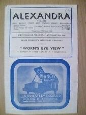 Alexandra Theatre Programme 1945- WORM'S EYE VIEW by R F Delderfield