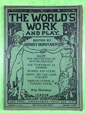 THE WORLD'S WORK & PLAY - Edwardian Shilling Monthly - April 1905 - Henry Norman