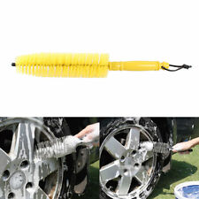 1 x Yellow Wheel Tire Rim Brush Wash Cleaner Tyre Brushes for Vehicle Car House